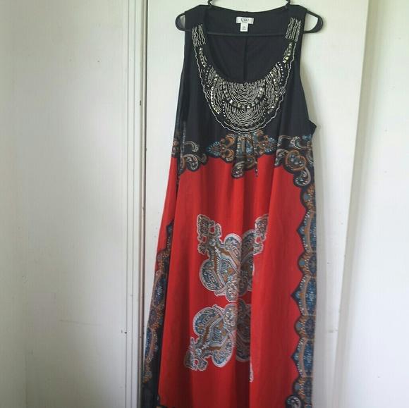 Plus size cato maxi summer dress sz 24W